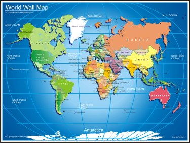world-wall-map
