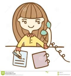 cartoon-business-woman-calling-phone-vector-illustration-30880710